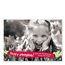 Happy Banner Christmas Photo Cards