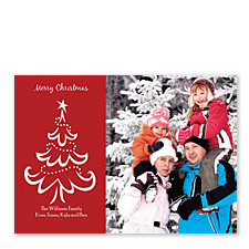 Lovely Tree Photo Holiday Cards