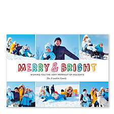 Colorful Merry & Bright Photo Holiday Cards