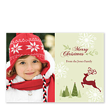 Regal Reindeer Christmas Photo Cards