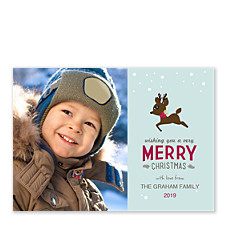Little Reindeer Christmas Photo Cards