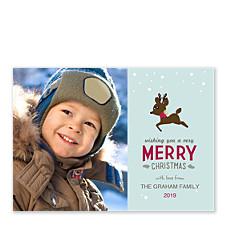 Little Reindeer Christmas Photo Cards