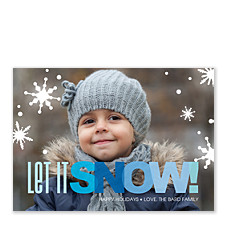 Snowflake Gems Christmas Photo Cards