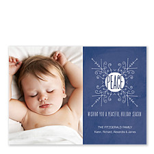 Peace Snowflake Christmas Photo Cards