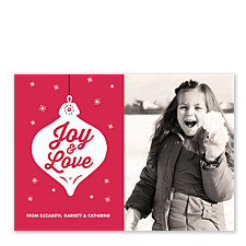 Joy Love Ornament Christmas Photo Cards