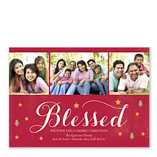 Blessed Christmas Photo Cards