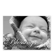 Blessings Photo Holiday Cards