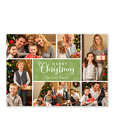 Holly & Berry Christmas Holiday Photo Cards