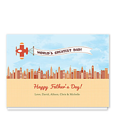 Skyline Banner Father's Day Cards