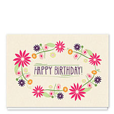 Birthday Wreath Birthday Cards