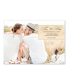 Vellum Label Save the Date Photo Cards