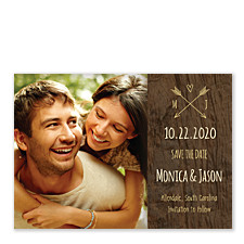 Cupid's Arrows Save the Date Cards