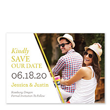 Diagonal Devotion Save the Date Cards
