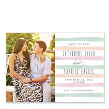 Pastel Watercolor Save the Date Photo Cards