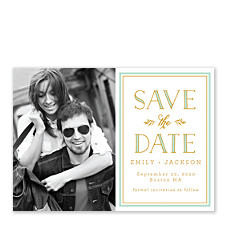 Fresh Mint Save the Date Cards