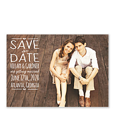 Hand Lettered Save the Date Photo Cards