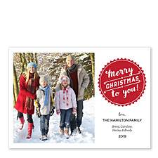 Christmas Bottlecap Christmas Photo Cards