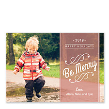 Be Merry Banner Photo Holiday Cards