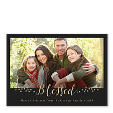 Gilded Blessings Photo Christmas Cards