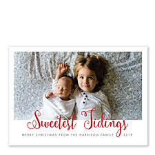 Sweetest Tidings Christmas Photo Cards