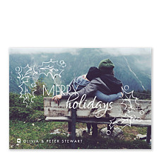 Holly Tidings Holiday Photo Cards