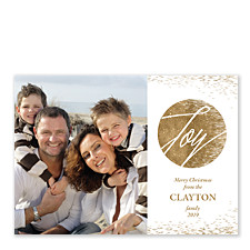 Gilded Joy Photo Holiday Cards