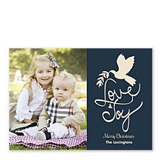 Love & Joy Dove Christmas Photo Cards