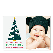 Confetti Tree Holiday Photo Cards