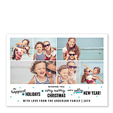 Holiday Wishes Collage Holiday Photo Cards