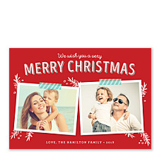 Merry Scrapbook Photo Christmas Cards