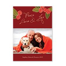 Christmas Peony Holiday Photo Cards