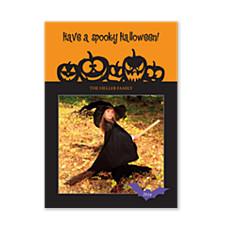 Pumpkin Faces Halloween Photo Cards