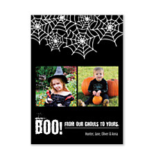 Spider Web Halloween Photo Cards