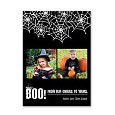 Spider Web Halloween Photo Cards