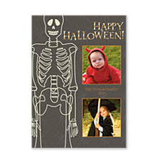 Skeleton Halloween Photo Cards