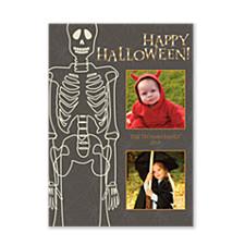 Skeleton Halloween Photo Cards