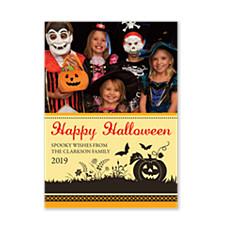 Pumpkin Patch Halloween Photo Cards