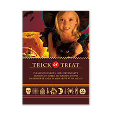 Halloween Icons Halloween Photo Invitation Cards