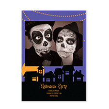 Halloween Party Halloween Photo Invitation Cards