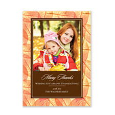 Many Leaves Thanksgiving Photo Cards