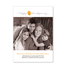 Simple Thanksgiving Photo Thanksgiving Invitation Cards