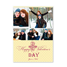 Elegant Flowers Valentine Photo Cards