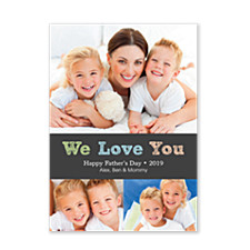 We Love You Dad Photo Father's Day Cards