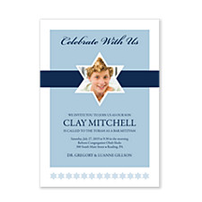 Celebrate with Our Son Bar Mitzvah Invitations