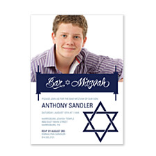 Sandler Photo Bar Mitzvah Invitations