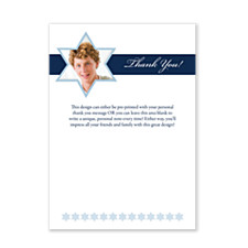 Our Shining Star Bar Mitzvah Thank You Cards
