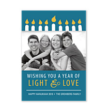 One for Each Night Photo Hanukkah Cards