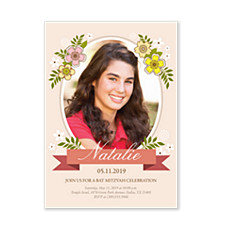 Natalie Bat Mitzvah Invitations