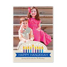 Sparkling Light Hanukkah Photo Cards