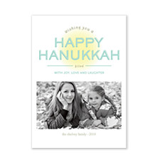 Joy and Laughter Hanukkah Photo Cards